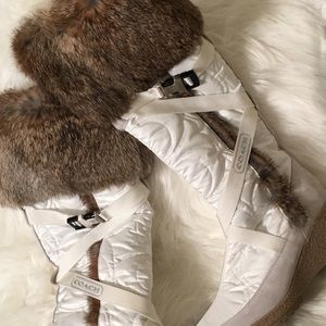 Coach Boots with Rabbit fur